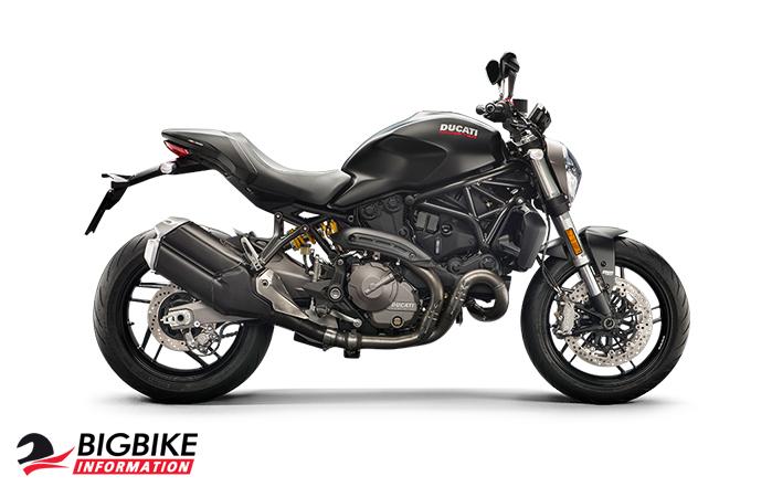 ภาพ DucatiMonster 821 สีดำ ด้านข้าง