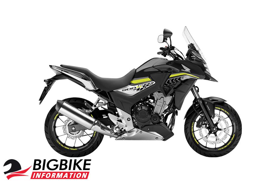 ภาพ Honda CB500X สีดำ-ขาว ด้านข้าง