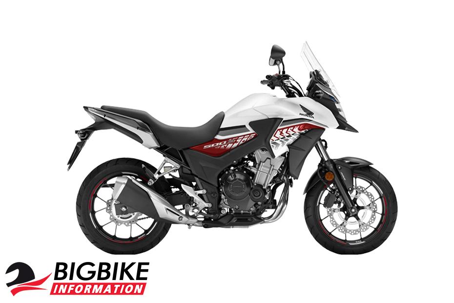 ภาพ Honda CB500X สีขาว-ดำ