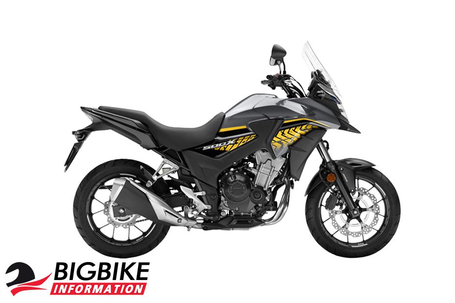ภาพ Honda CB500X สีเงิน-ดำ ด้านข้าง