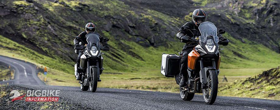 ภาพ KTM 1190 Adventure สีส้ม สีเงิน