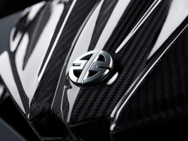 ในส่วนด้านหน้าจะแปะ logo ไว้ โดดเด่น เป็นเอกลักษณ์เฉพาะตัวเจ้า Ninja H2,H2R