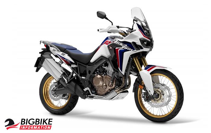 ภาพ Honda Africa Twin CRF1000L สีPearl Glear White Tricolour