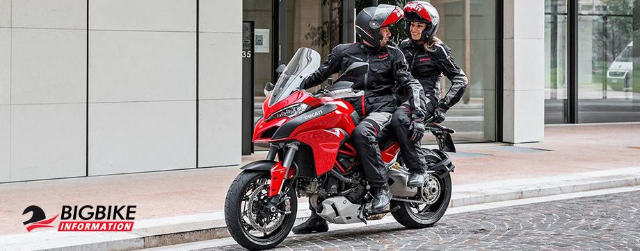ภาพ Ducati Multistrada 1200s สีแดง ด้านข้าง