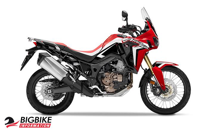 ภาพ Honda Africa Twin CRF1000L สีแดง ด้านข้าง