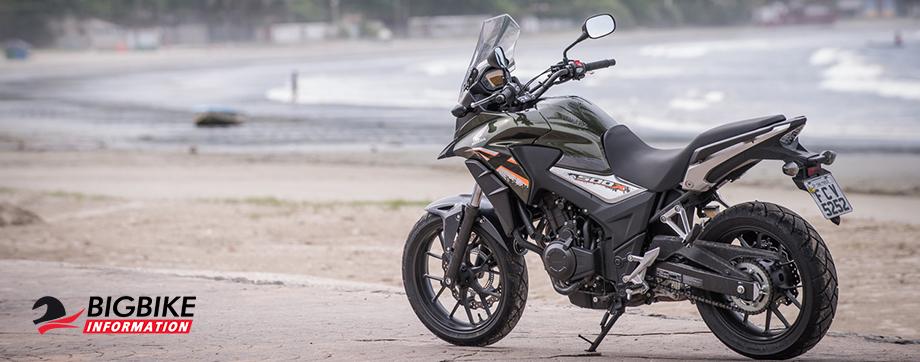 ภาพ Honda CB500Xสีเขียวขี้ม้า
