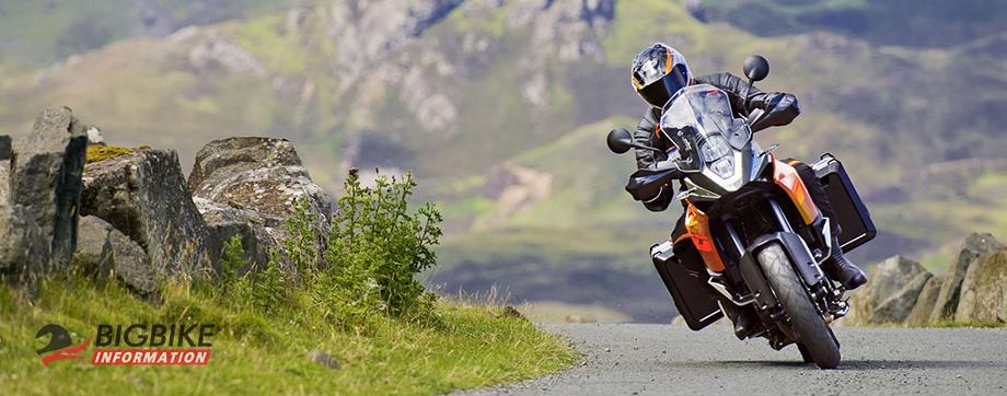 ภาพ KTM 1190 Adventure สีส้ม ด้านหน้า