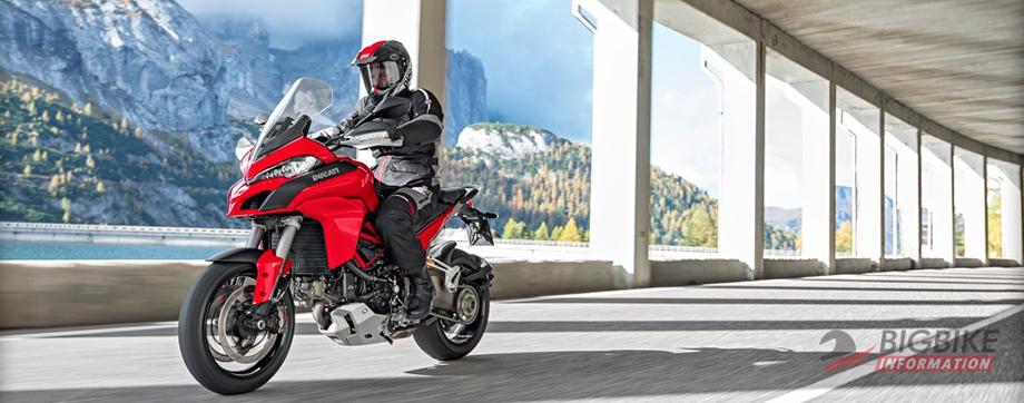 ภาพ Ducati Multistrada 1200 สีแดง ด้านหน้า