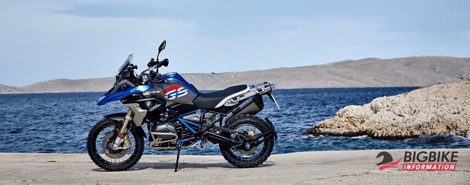 ภาพ BMW R 1200GS สีน้ำเงิน-เทา ด้านข้าง