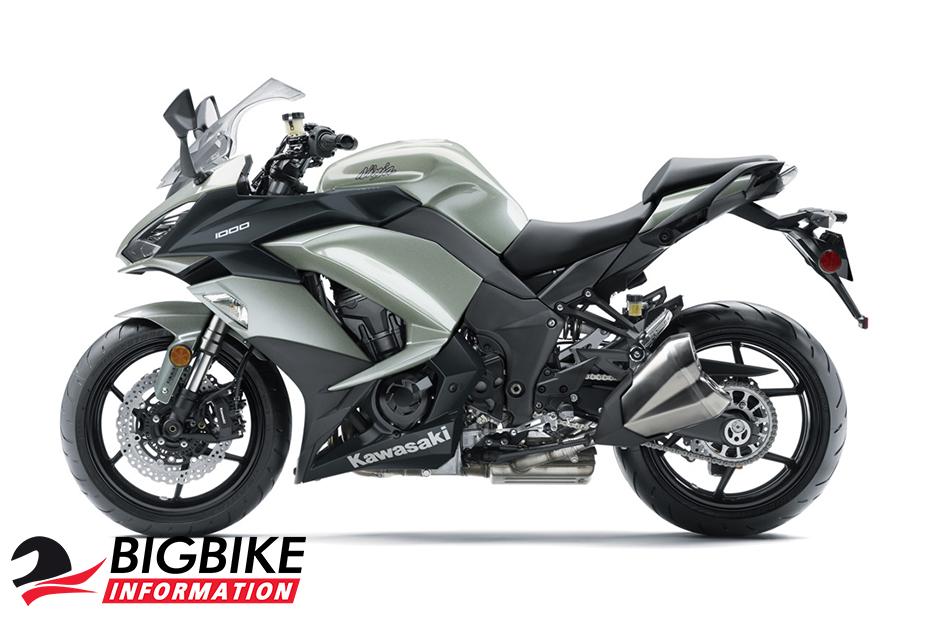 ภาพ Kawasaki Ninja 1000 ABS สีเทา ด้านข้าง