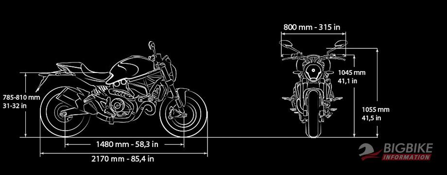 ภาพ DucatiMonster 821Stripe สันส่วน