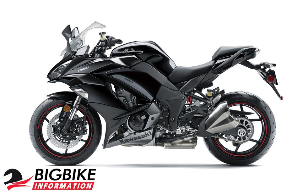 ภาพ Kawasaki Ninja 1000 ABS สีดำ ด้านข้าง