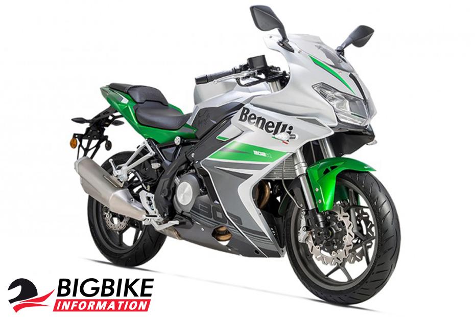 ภาพ Benelli 302R สีขาว-เขียว ด้านหน้า