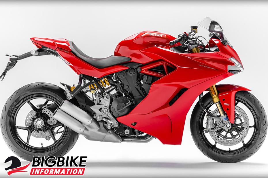 ภาพ Ducati SuperSport S สีแดง ด้านข้าง