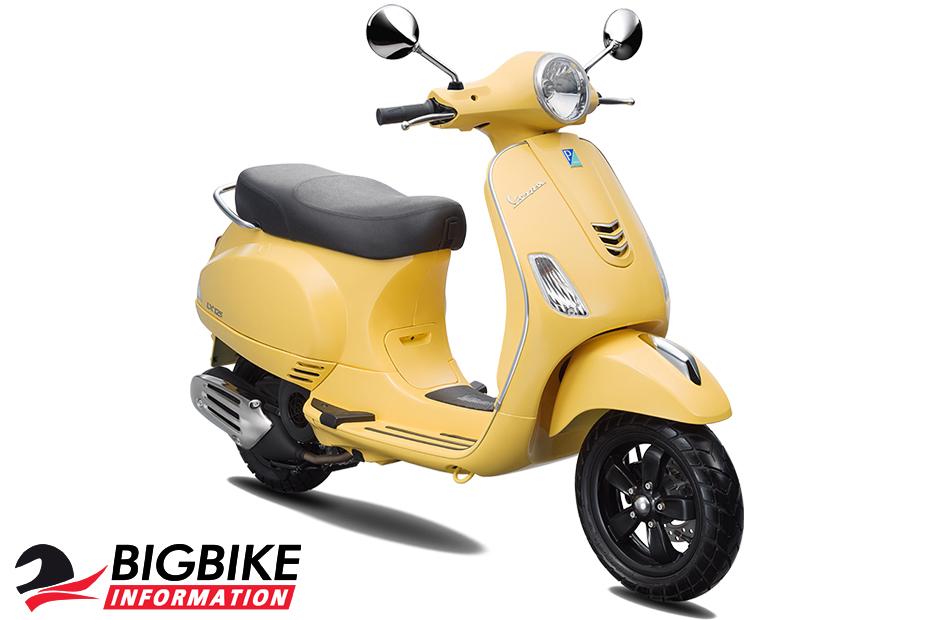 สี เวสป้า แอลเอ็กซ์ 125 ไอ-เก็ต สีเหลือง