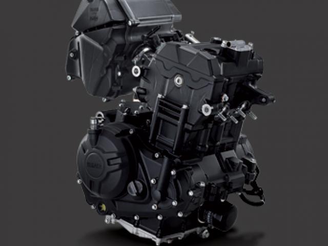 เครื่องยนต์DOHC 2สูบเรียง 4 วาล์วต่อสูบ4 จังหวะ ขนาดเครื่องยนต์ที่ให้มาขนาด 321 ซีซี