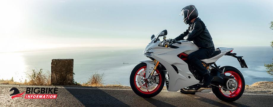 ภาพ Ducati SuperSport S สีขาว ด้านข้าง