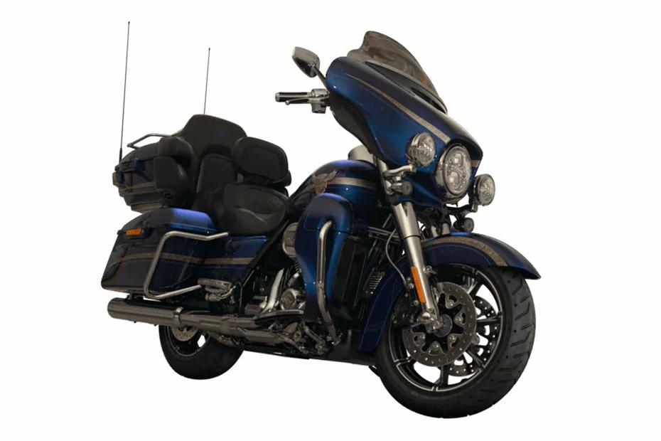 ภาพ Harley davidson cvo limited สีน้ำเงิน ด้านหน้า