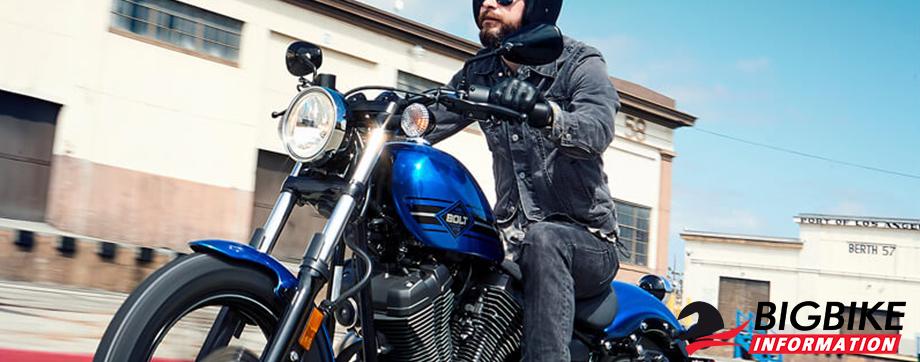 ภาพ Yamaha BOLT-R สีน้ำเงิน ด้านข้าง
