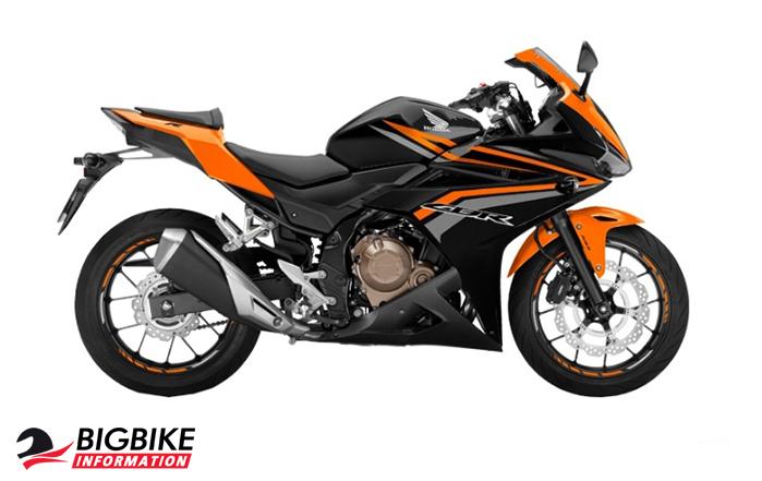 ภาพ Honda CBR500R สีส้ม ด้านข้าง