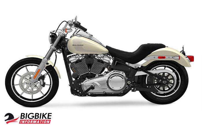ภาพ Harley Davidson Softail Low Rider สีครีม ด้านข้าง