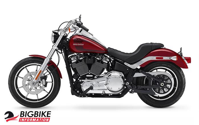 ภาพ Harley Davidson Softail Low Rider สีแดง ด้านข้าง