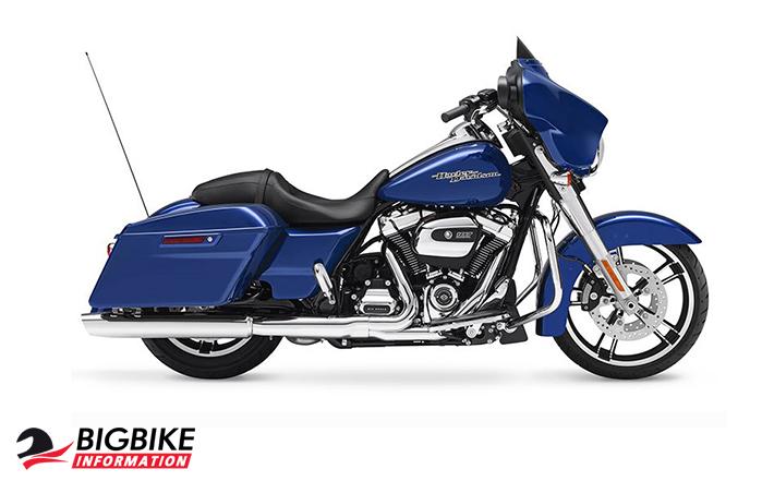 ภาพ Harley Davidson TOURING STREET GLIDE  สีน้ำเงิน ด้านข้าง