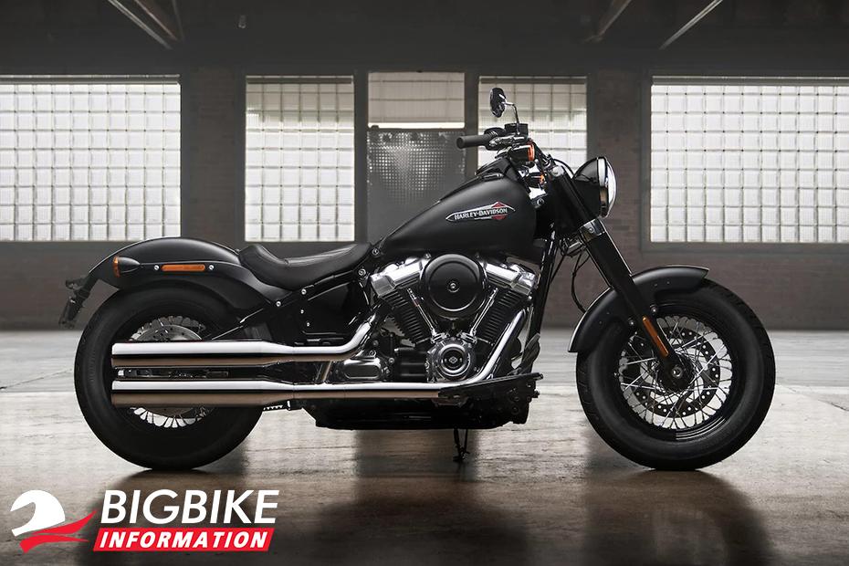 ภาพ Harley Davidson Softail Slim สีดำ ด้านข้าง