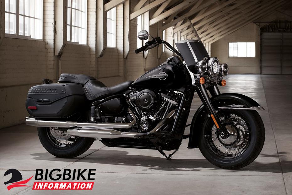 ภาพ Harley Davidson Softail Heritage Classic สีดำ