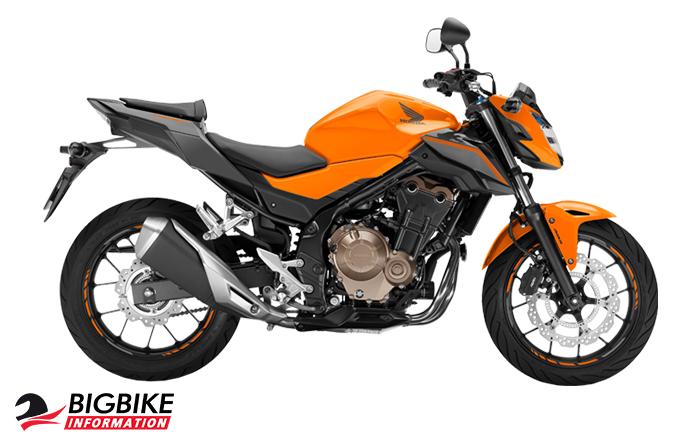 ภาพ Honda CB500F สีส้ม ด้านข้าง