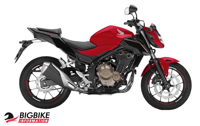 ภาพ Honda CB500F สีแดง ด้านข้าง