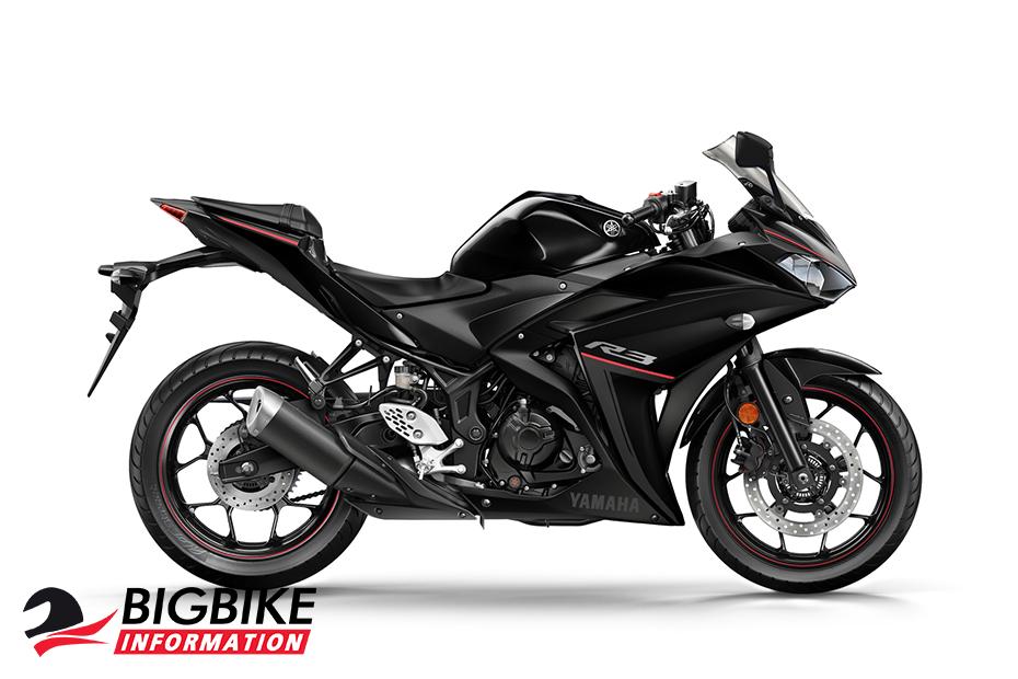ภาพ Yamaha YZF-R3 ABS สีดำ ด้านข้าง