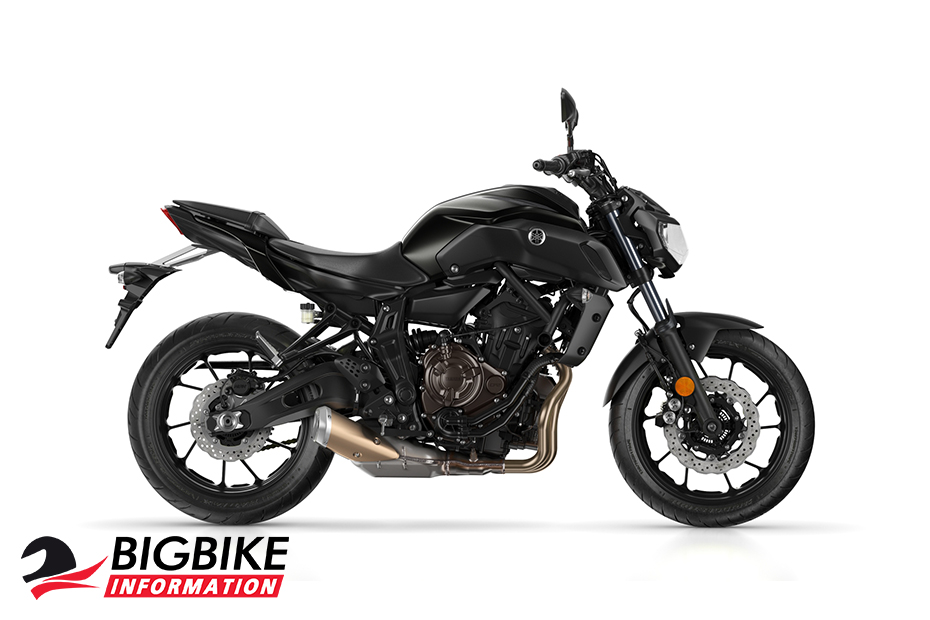 ภาพ Yamaha MT 07 สีดำ ด้านข้าง