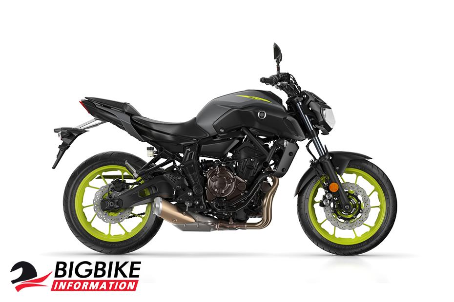 ภาพ Yamaha MT-07 สีเทา ด้านข้าง