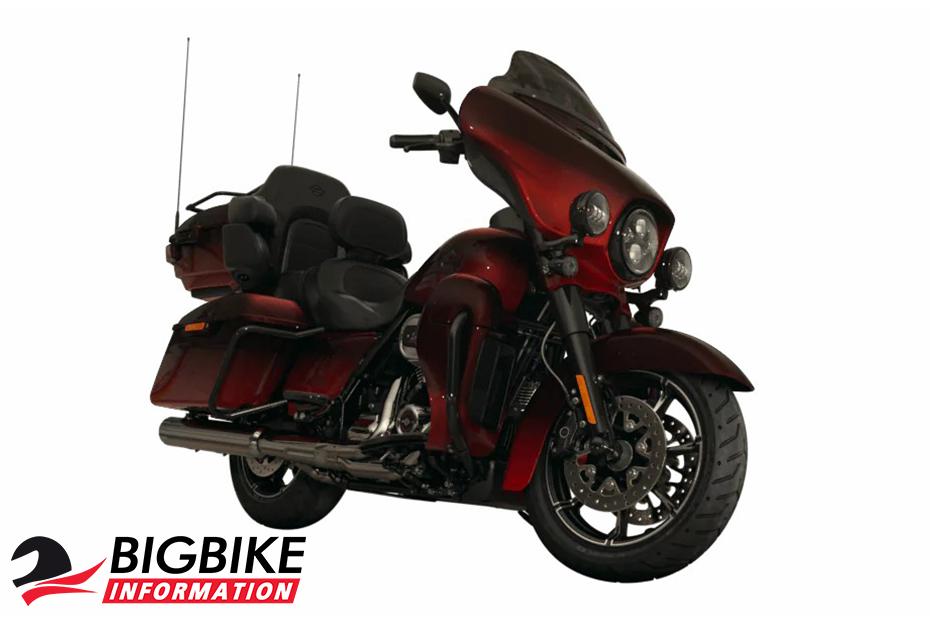ภาพ Harley davidson cvo limited สีแดง ด้านหน้า