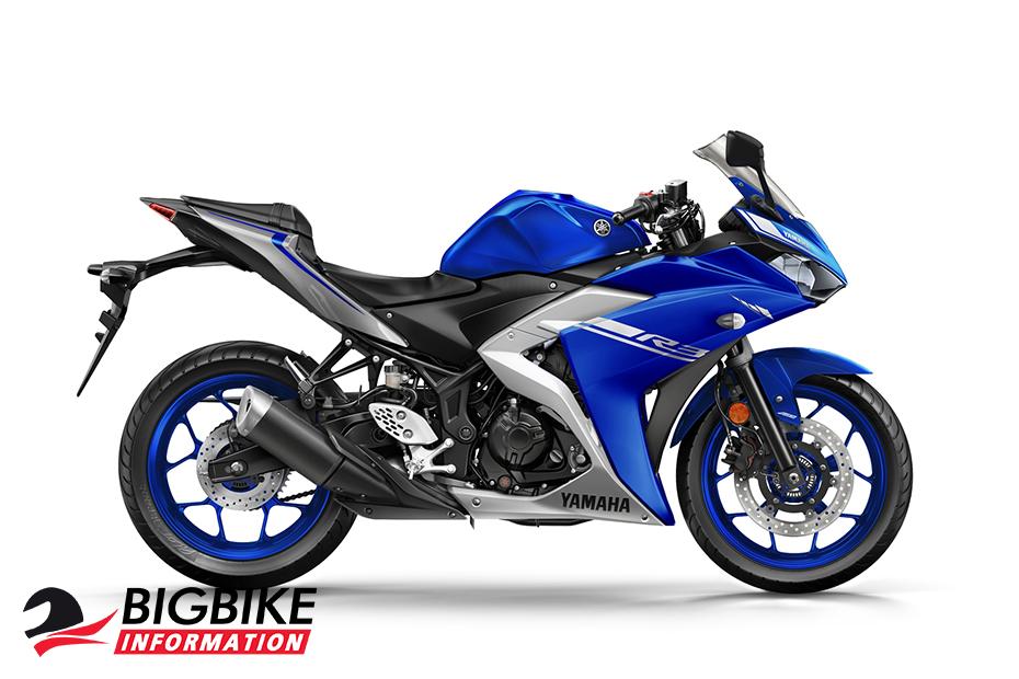 ภาพ Yamaha YZF-R3 ABS สีน้ำเงิน ด้านข้าง