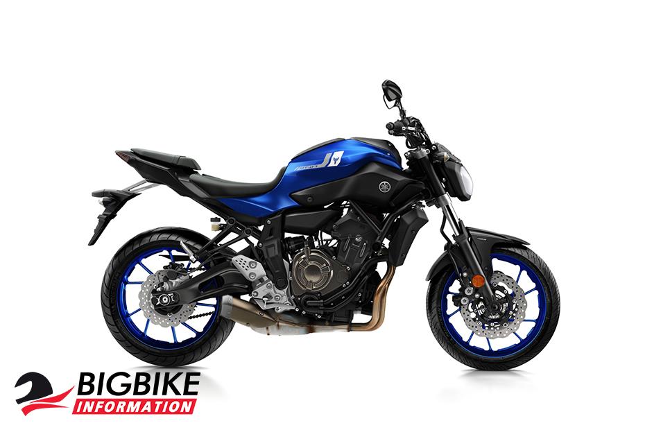 ภาพ Yamaha MT-07 สีน้ำเงิน ด้านข้าง