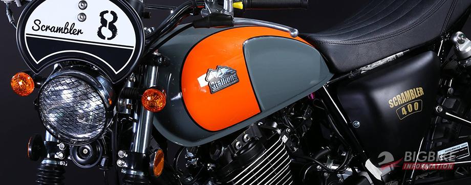 ภาพ Stallion CT400 Scrambler สีส้ม