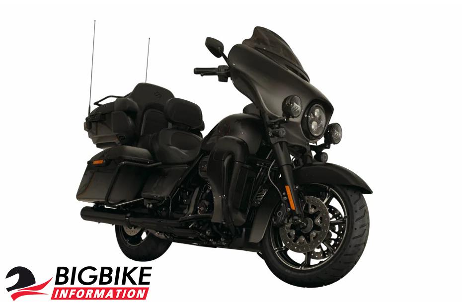 ภาพ Harley davidson cvo limited สีดำ ด้านหน้า