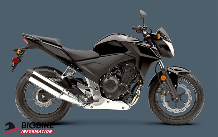 ภาพ Honda CB500F สีดำ ด้านข้าง