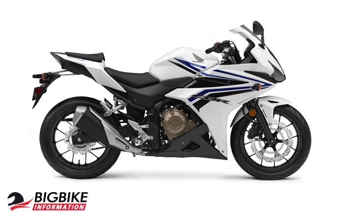 ภาพ Honda CBR500R สีขาว-น้ำเงิน ด้านข้าง