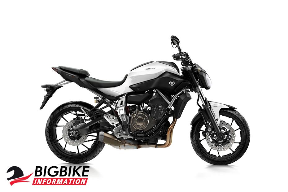 ภาพ Yamaha MT-07 สีขาว ด้านข้าง