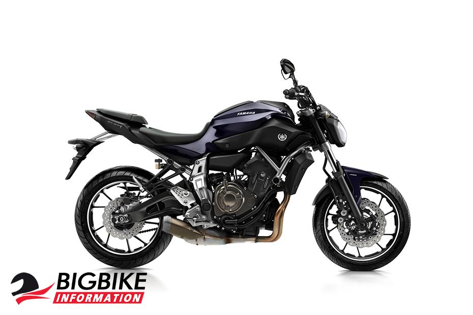 ภาพ Yamaha MT-07 สีม่วงอมน้ำเงิน