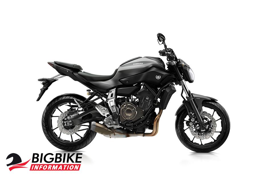 ภาพ Yamaha MT-07 สีเทา-ดำ ด้านข้าง