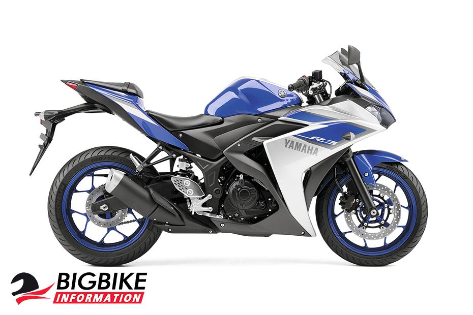 ภาพ Yamaha YZF-R3 ABS สีน้ำเงิน-ขาว