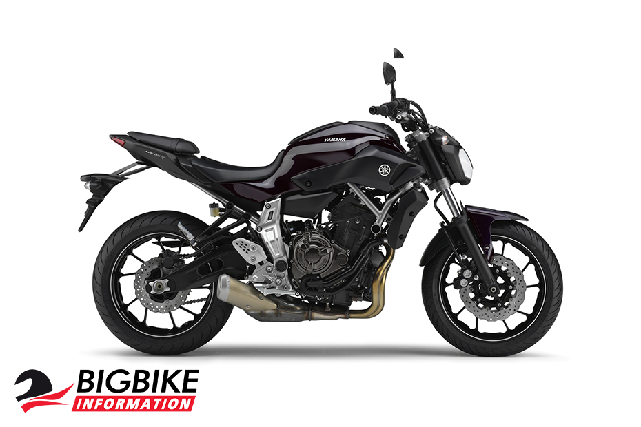 ภาพ Yamaha MT 07 สีม่วงอมน้ำเงิน