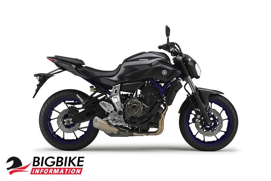 ภาพ Yamaha MT-07 สีดำ ด้านข้าง