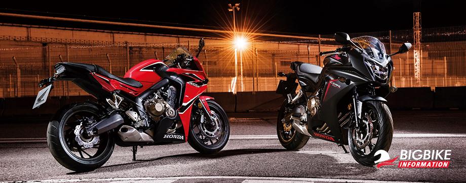 ภาพ Honda CBR650F สีแดง สีดำ