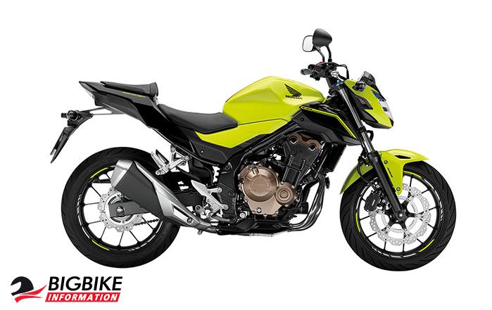 ภาพ Honda CB500F สีเขียวมะนาว ด้านข้าง