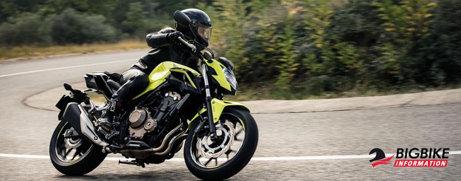 ภาพ Honda CB500F สีเขียวมะนาว